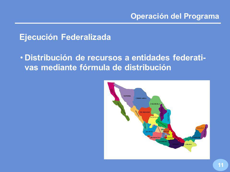 10 Operación del Programa Programa de Acuacultura y Pesca Ejecución Nacional Ejecución Federalizada