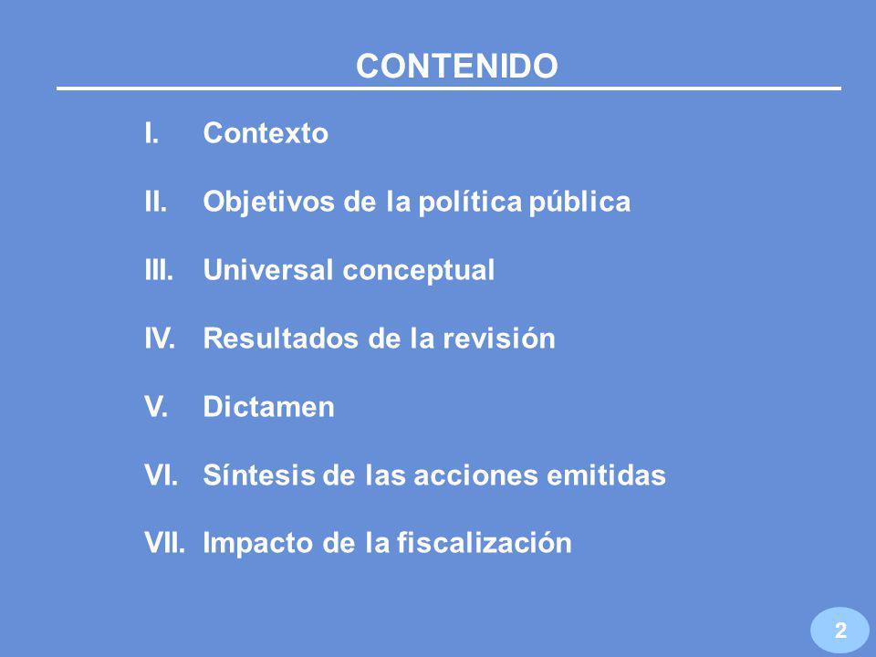 AUDITORÍA DE DESEMPEÑO NÚM. 109 AUDITORÍA AL PROGRAMA DE ACUACULTURA Y PESCA SAGARPA / CONAPESCA 1