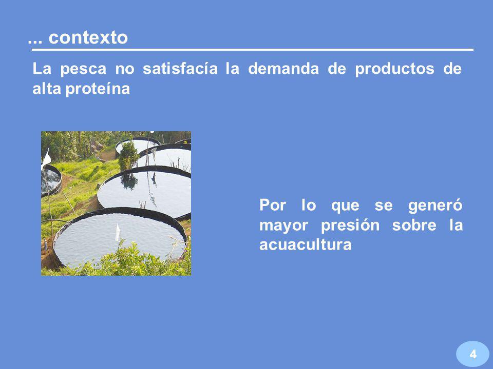 Principales problemas del sector pesquero en 1994: I.