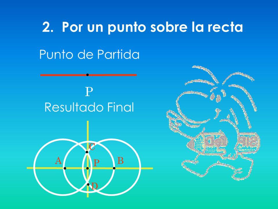 2. Por un punto sobre la recta P Resultado Final Punto de Partida PBA C D