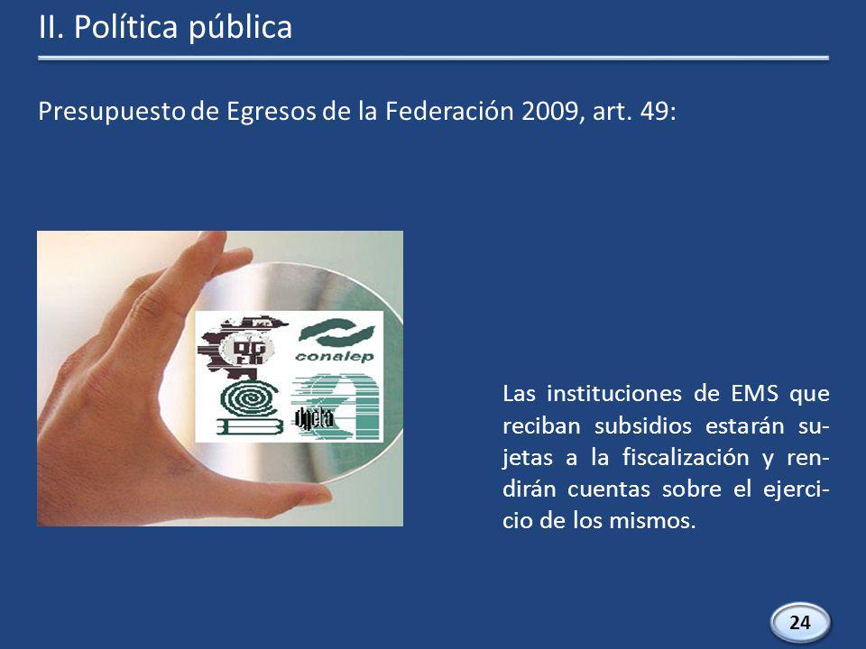 Presupuesto de Egresos de la Federación 2009, art.