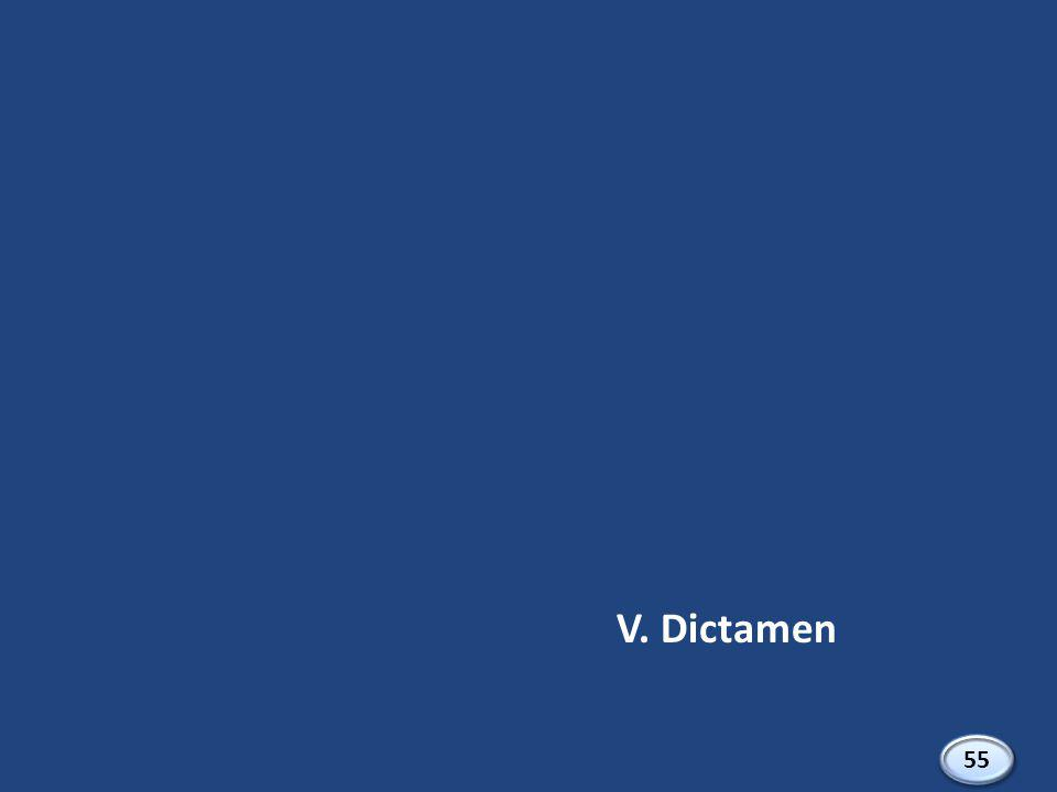 V. Dictamen 55