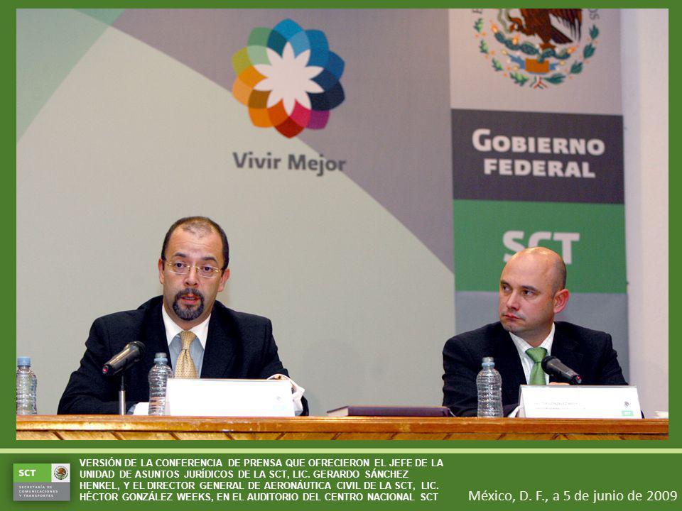 México, D. F., a 5 de junio de 2009