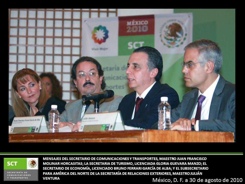 PRORROGA SCT TÍTULO DE CONCESIÓN A LA EMPRESA VOLARIS México, D. F. a 30 de agosto de 2010 MENSAJES DEL SECRETARIO DE COMUNICACIONES Y TRANSPORTES, MA