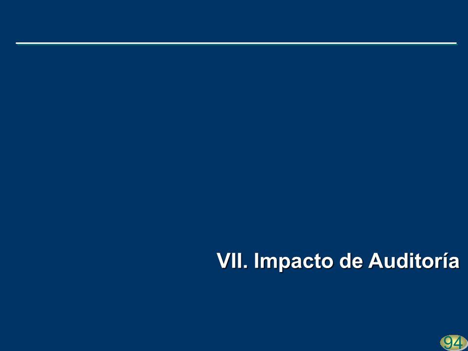 94 VII. Impacto de Auditoría