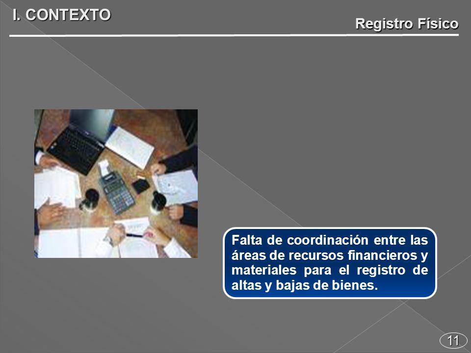 11 Falta de coordinación entre las áreas de recursos financieros y materiales para el registro de altas y bajas de bienes.