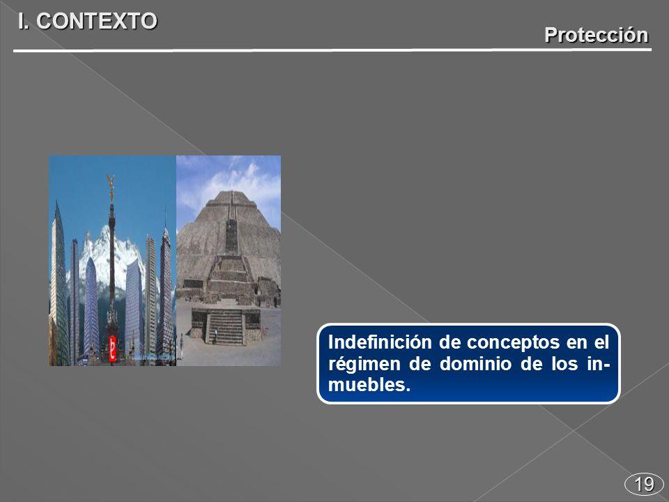 19 Indefinición de conceptos en el régimen de dominio de los in- muebles. I. CONTEXTO Protección