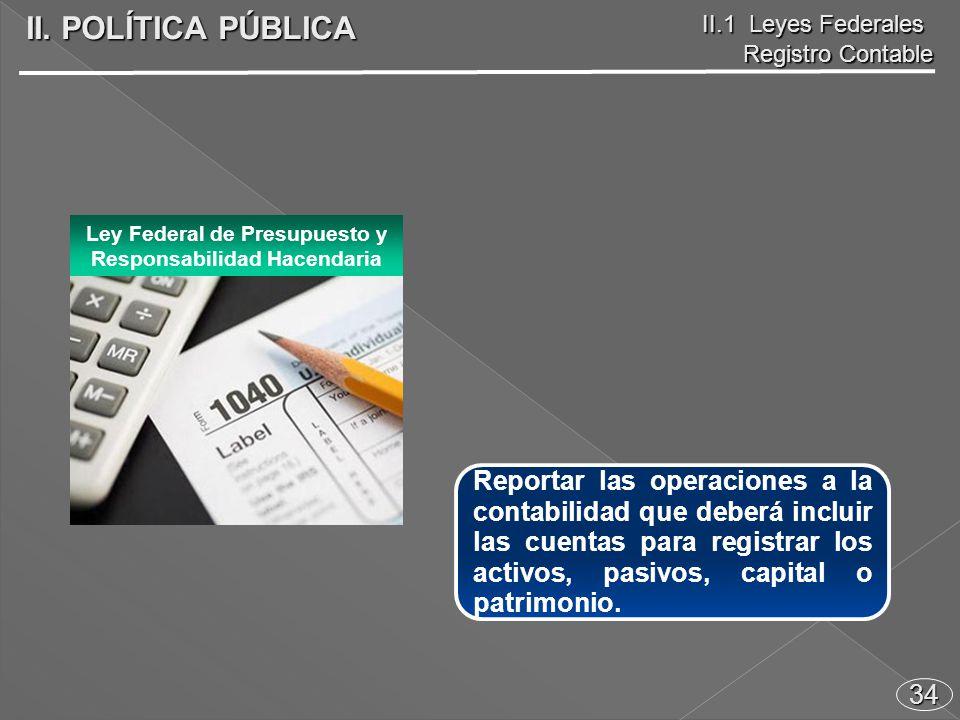 34 Reportar las operaciones a la contabilidad que deberá incluir las cuentas para registrar los activos, pasivos, capital o patrimonio.