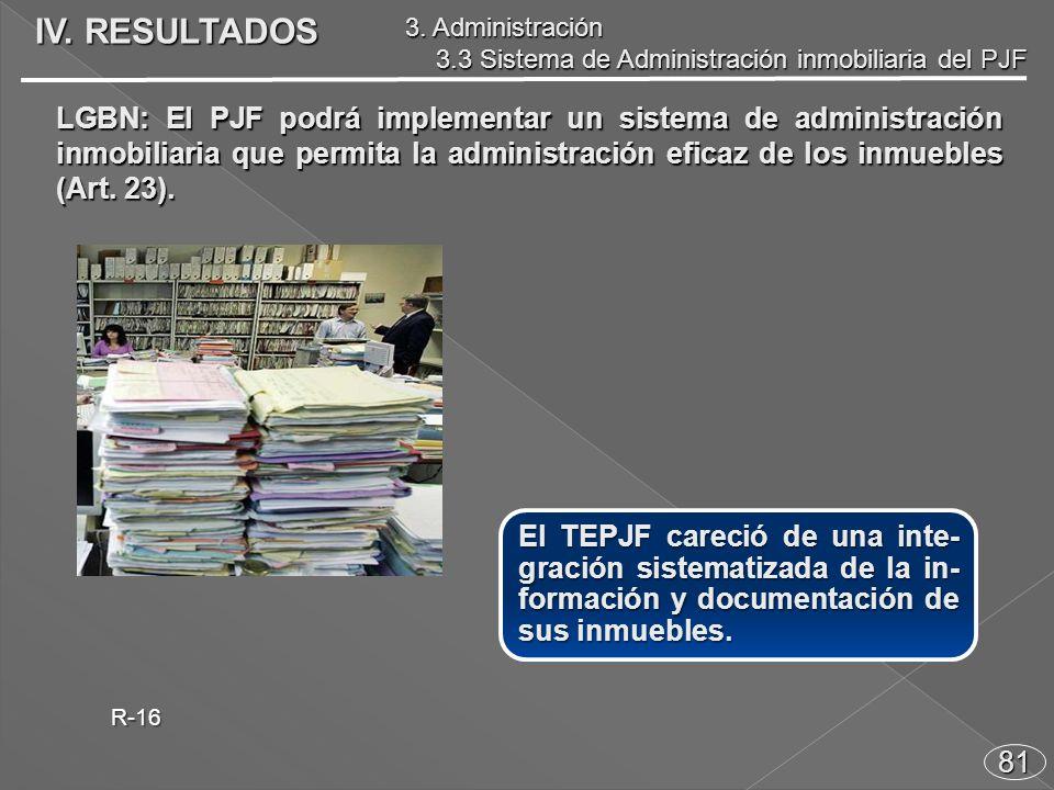 81 El TEPJF careció de una inte- gración sistematizada de la in- formación y documentación de sus inmuebles.
