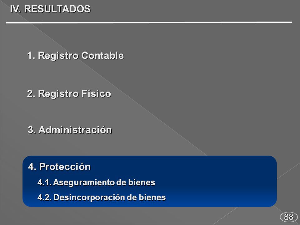 88 4. Protección 4.1. Aseguramiento de bienes 4.1.