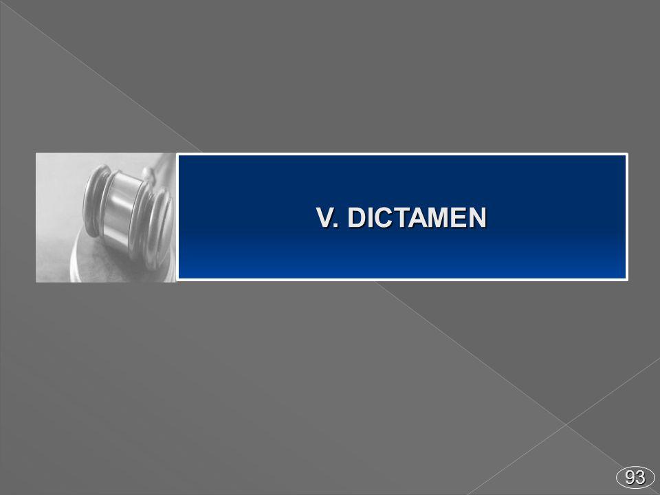 93 V. DICTAMEN