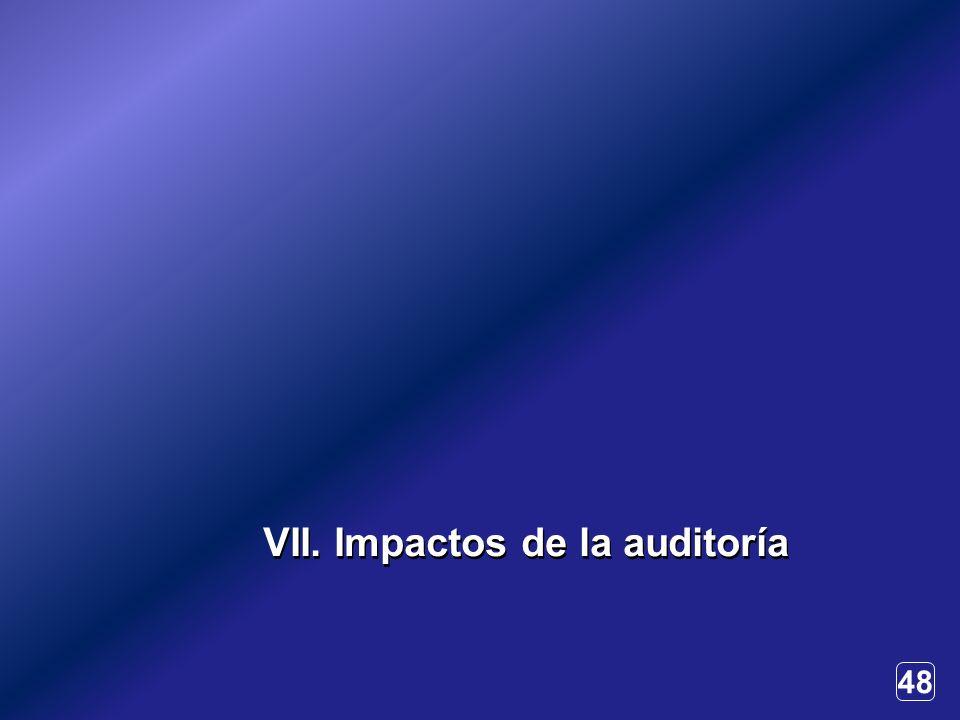 48 VII. Impactos de la auditoría