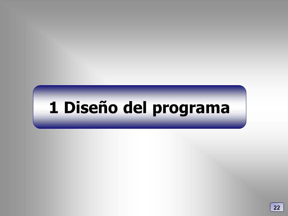 1 Diseño del programa 22