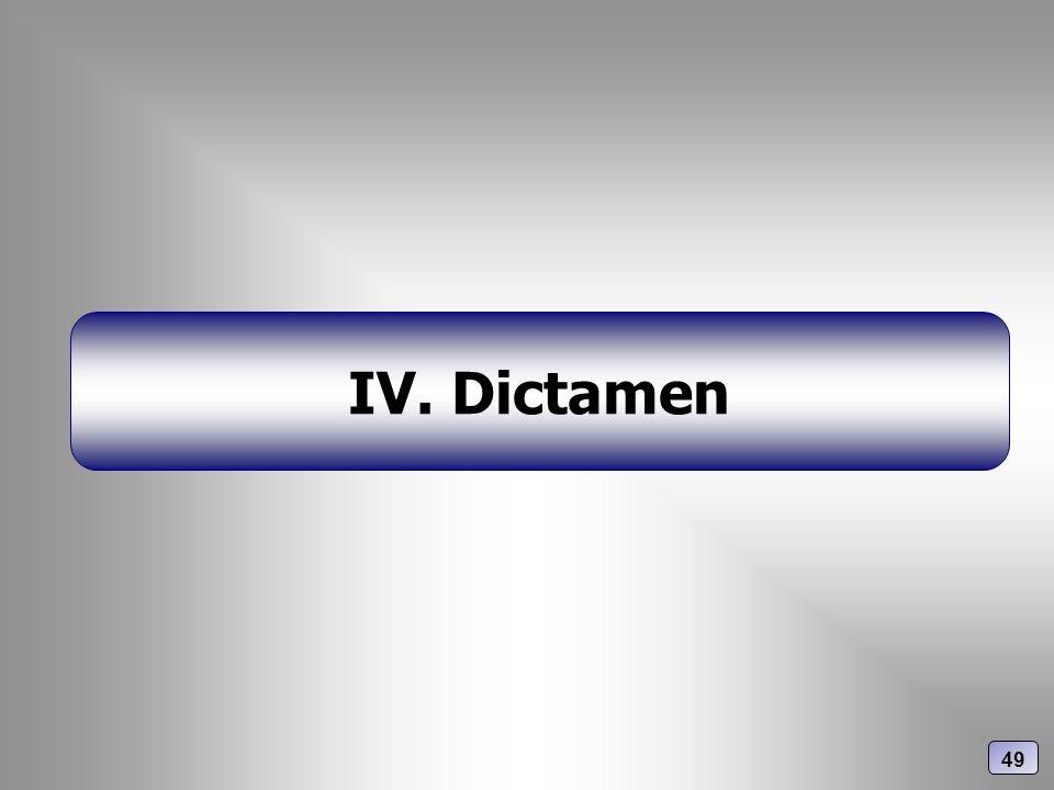 IV. Dictamen 49
