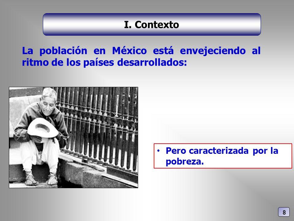La población en México está envejeciendo al ritmo de los países desarrollados: I. Contexto Pero caracterizada por la pobreza. 8
