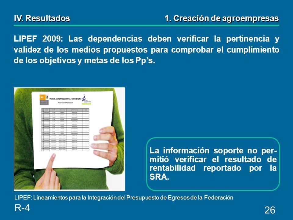 26 LIPEF 2009: Las dependencias deben verificar la pertinencia y validez de los medios propuestos para comprobar el cumplimiento de los objetivos y metas de los Pps.
