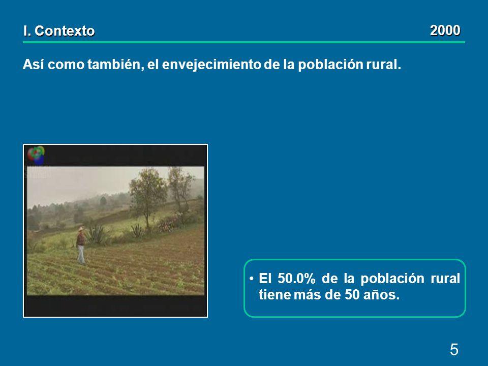 5 Así como también, el envejecimiento de la población rural.