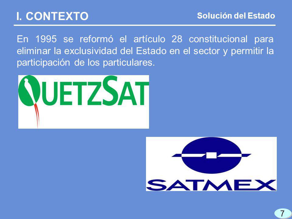 En 1995 se reformó el artículo 28 constitucional para eliminar la exclusividad del Estado en el sector y permitir la participación de los particulares