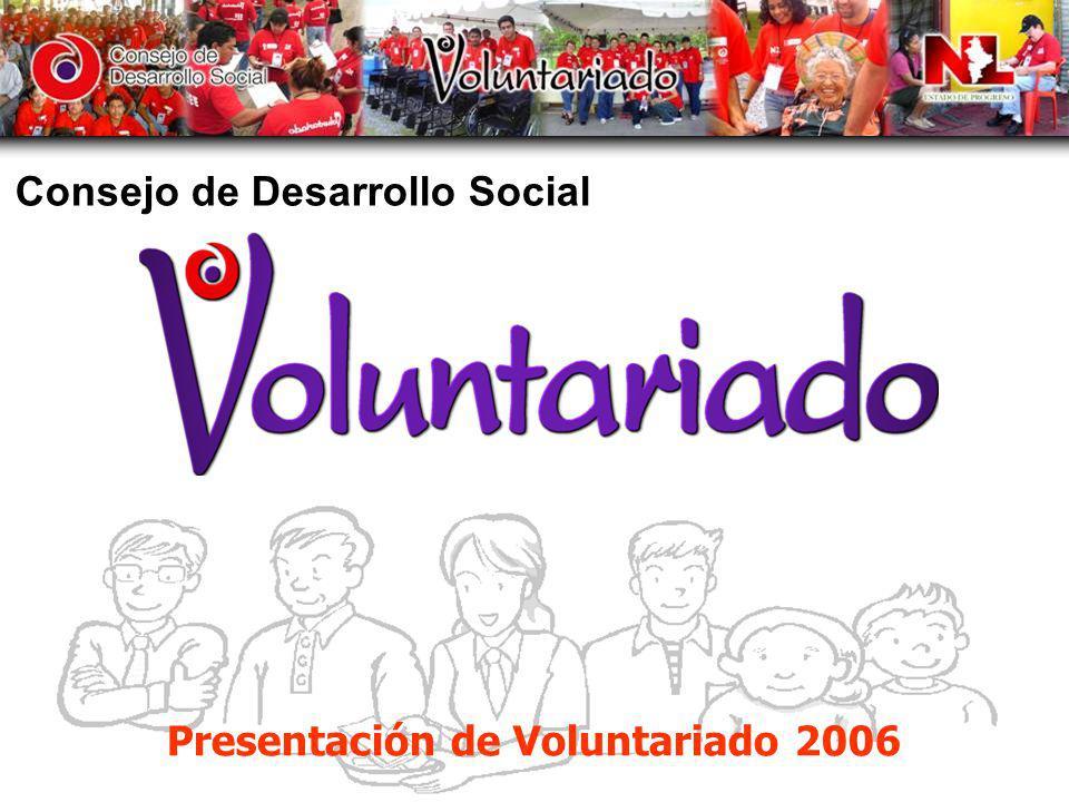 Voluntariado del Consejo de Desarrollo Social Misión: Impulsar las acciones y programas del Consejo de Desarrollo Social, al combate a la pobreza con el fin de lograr que los grupos vulnerables accedan a una vida plena.