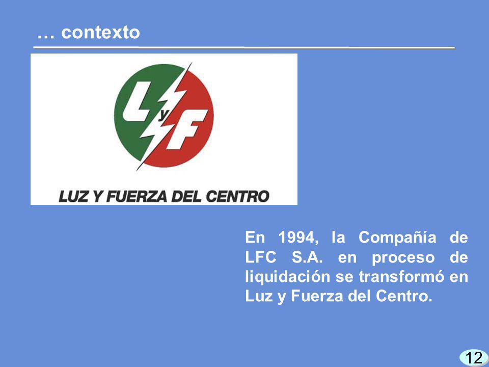 12 … contexto En 1994, la Compañía de LFC S.A.
