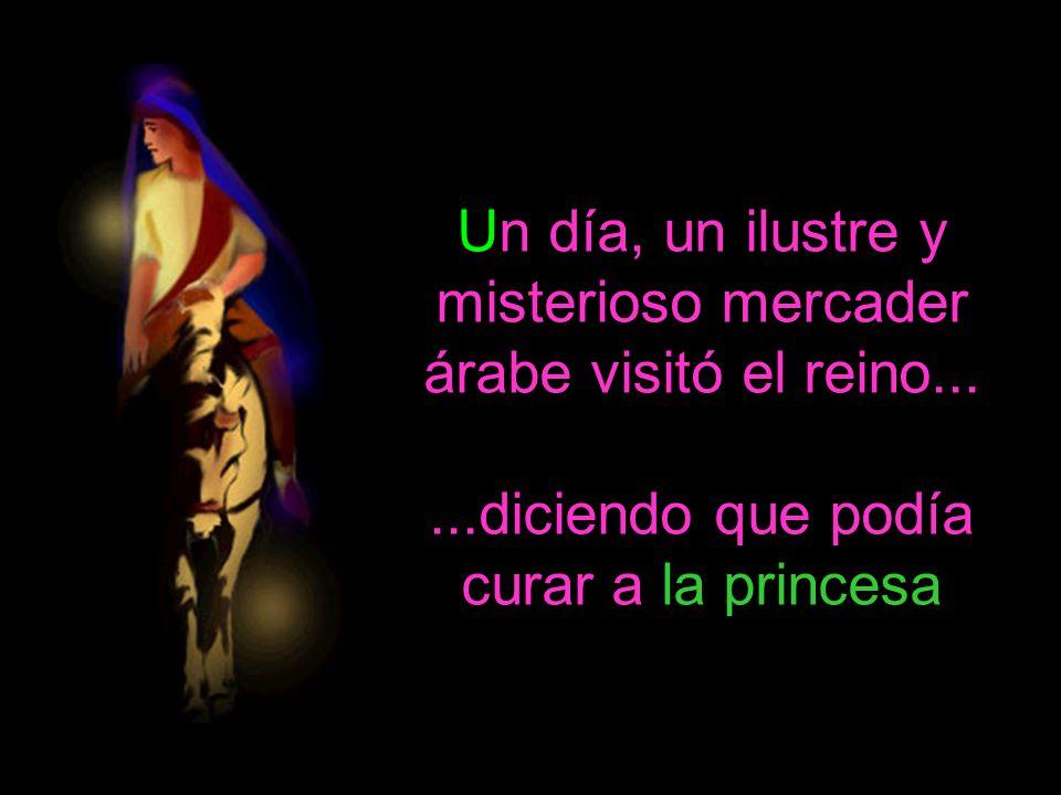 Un día, un ilustre y misterioso mercader árabe visitó el reino......diciendo que podía curar a la princesa