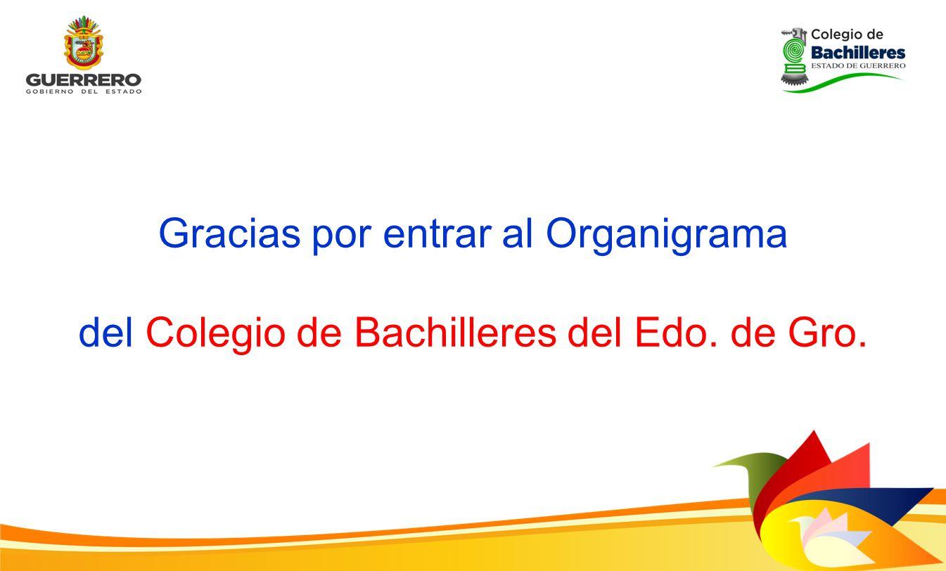 Gracias por entrar al Organigrama del Colegio de Bachilleres del Edo. de Gro.