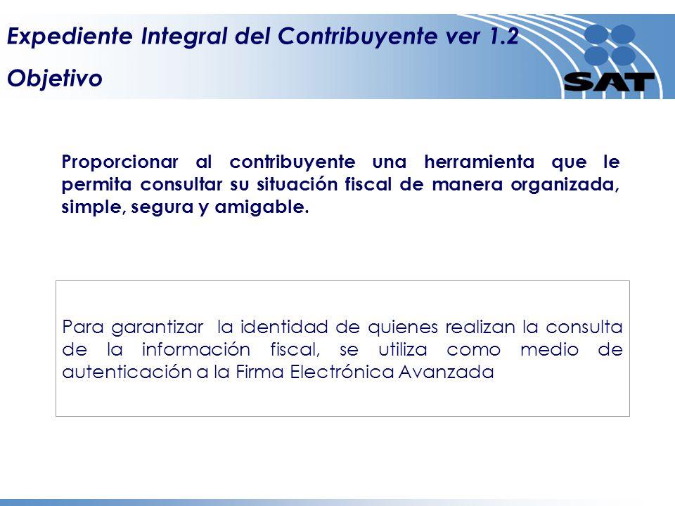 Expediente Integral del Contribuyente ver 1.2 Información General