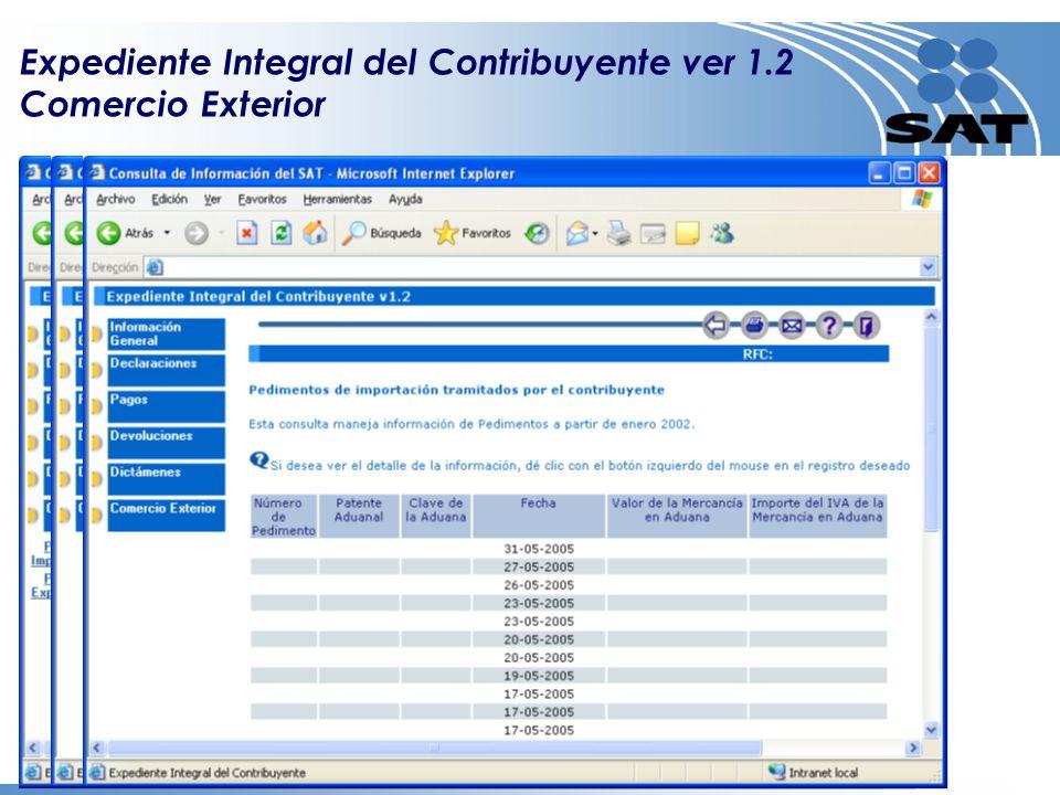 Expediente Integral del Contribuyente ver 1.2 Comercio Exterior