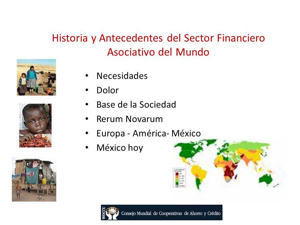 Historia y Antecedentes del Sector Financiero Asociativo del Mundo Necesidades Dolor Base de la Sociedad Rerum Novarum Europa - América- México México