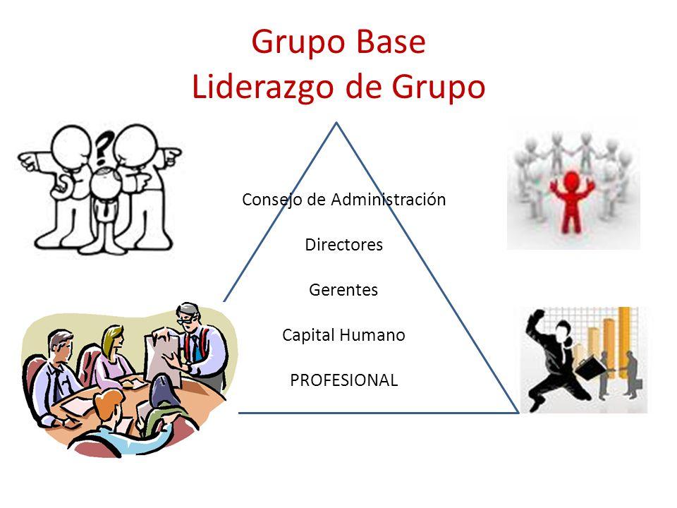 Consejo de Administración Directores Gerentes Capital Humano PROFESIONAL Grupo Base Liderazgo de Grupo