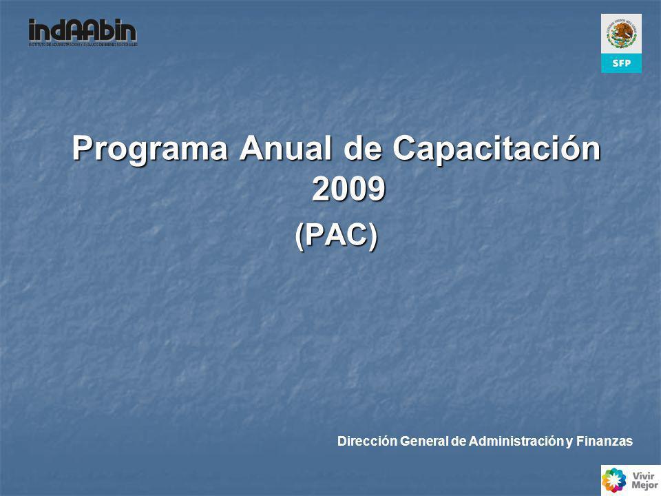 Programa Anual de Capacitación 2009 (PAC) Dirección General de Administración y Finanzas