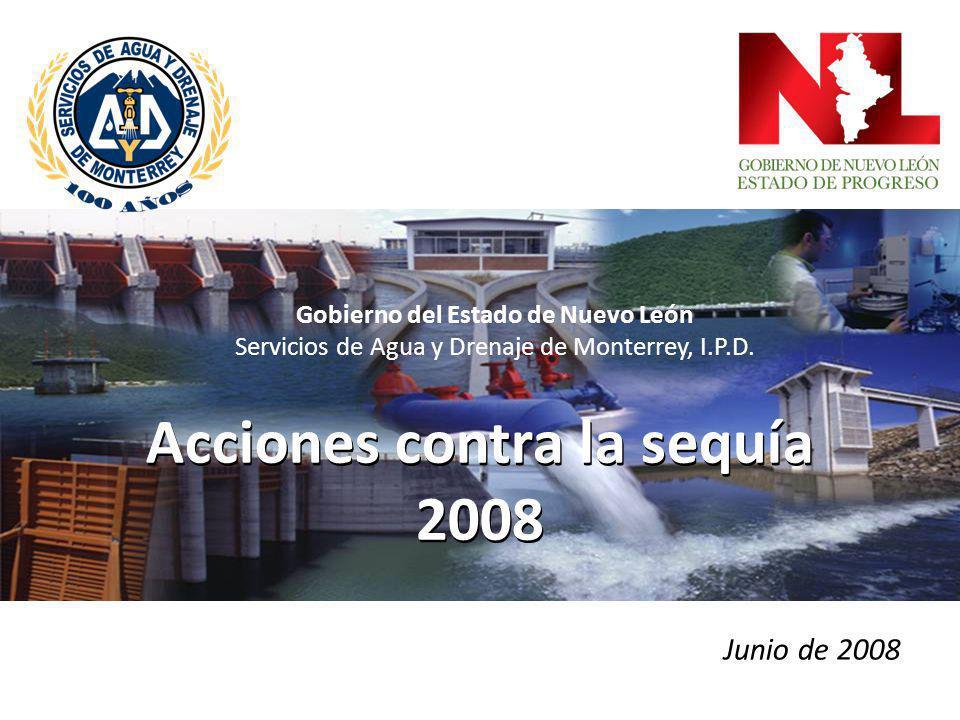 Acciones contra la sequía 2008 2 INDICE FUENTES DE ABASTO EN EL ÁREA METROPOLITANA DE MONTERREYFUENTES DE ABASTO EN EL ÁREA METROPOLITANA DE MONTERREY FUENTES DE ABASTO PARA MUNICIPIOS NO METROPOLITANOSFUENTES DE ABASTO PARA MUNICIPIOS NO METROPOLITANOS PROBLEMÁTICA Y ACCIONES PREVENTIVASPROBLEMÁTICA Y ACCIONES PREVENTIVAS
