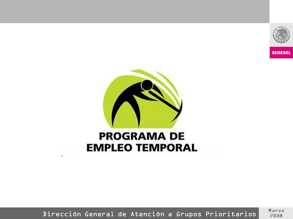 Marzo 2008 Dirección General de Atención a Grupos Prioritarios
