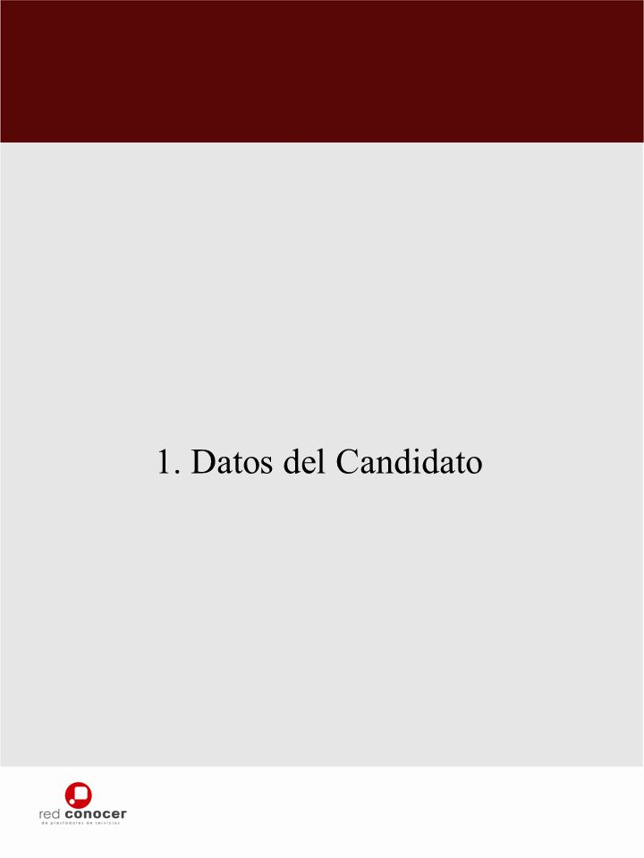 1. Datos del Candidato