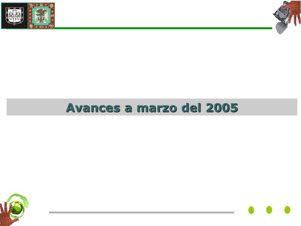 Avances a marzo del 2005