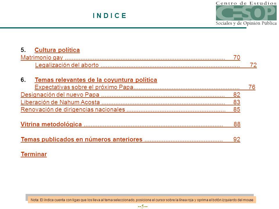 --86-- RENOVACIÓN DE DIRIGENCIAS NACIONALES Fuente: Consulta Mitofsky, abril de 2005.