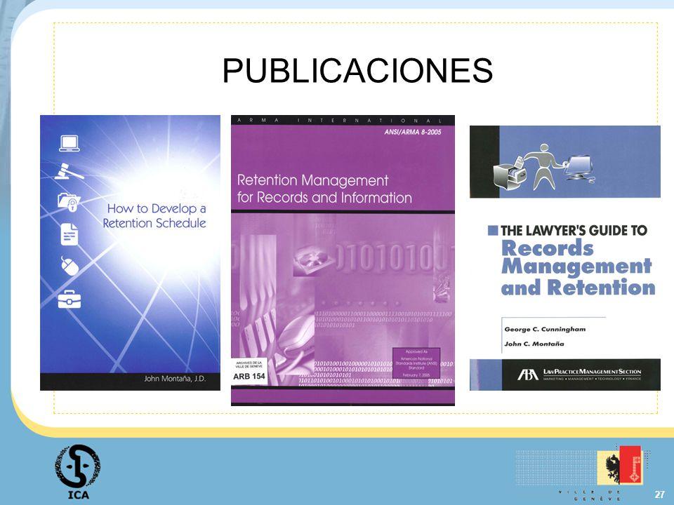 27 PUBLICACIONES