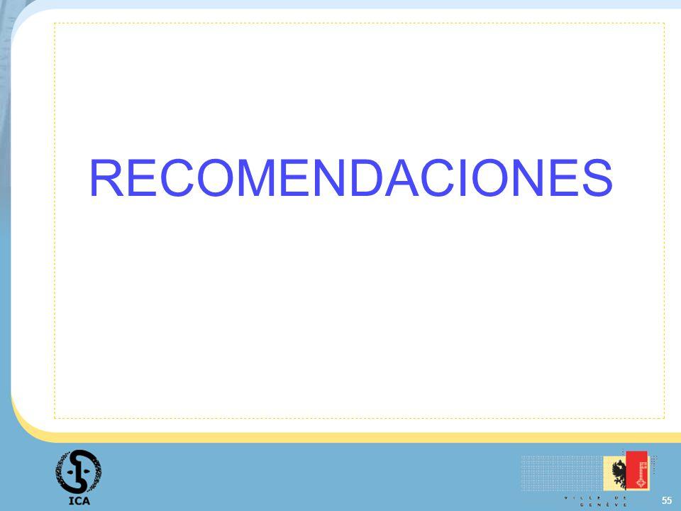 55 RECOMENDACIONES