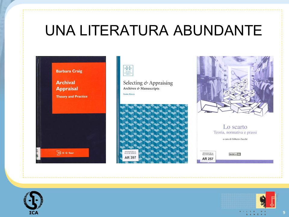 9 UNA LITERATURA ABUNDANTE