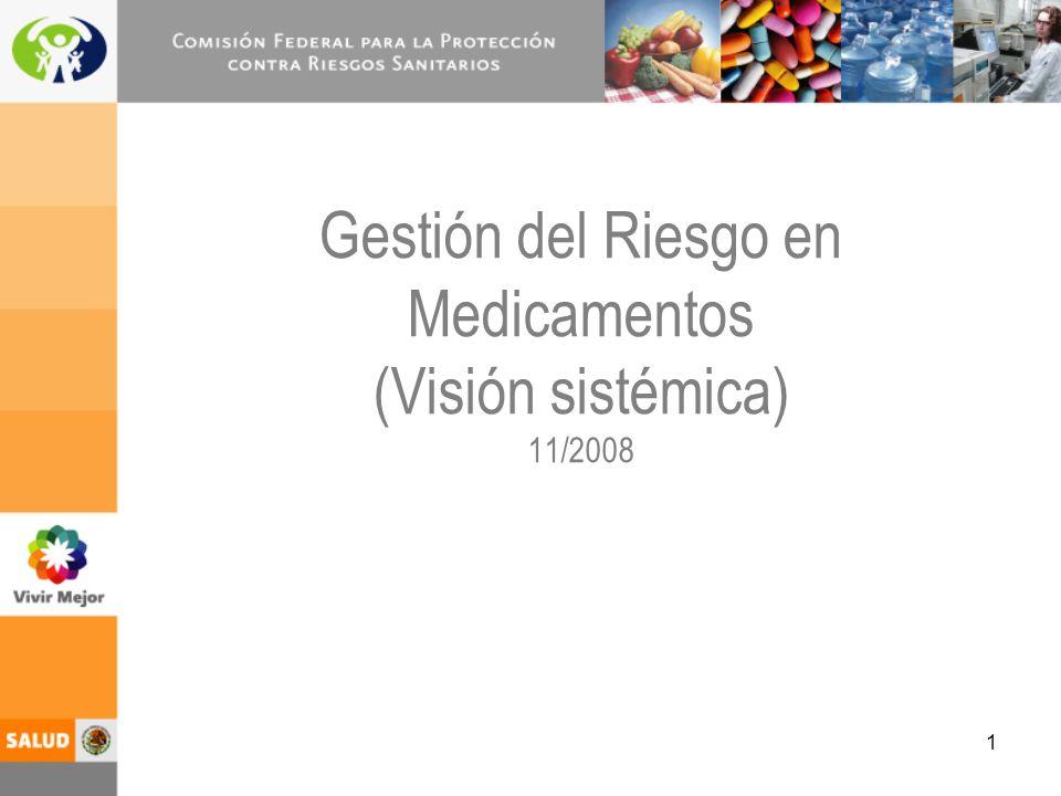 1 Gestión del Riesgo en Medicamentos (Visión sistémica) 11/2008