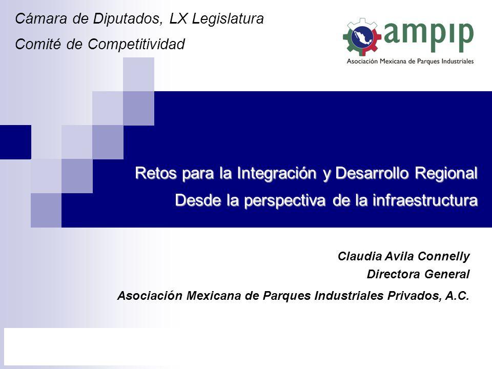 Cámara de Diputados, LX Legislatura Comité de Competitividad Claudia Avila Connelly Directora General Asociación Mexicana de Parques Industriales Priv