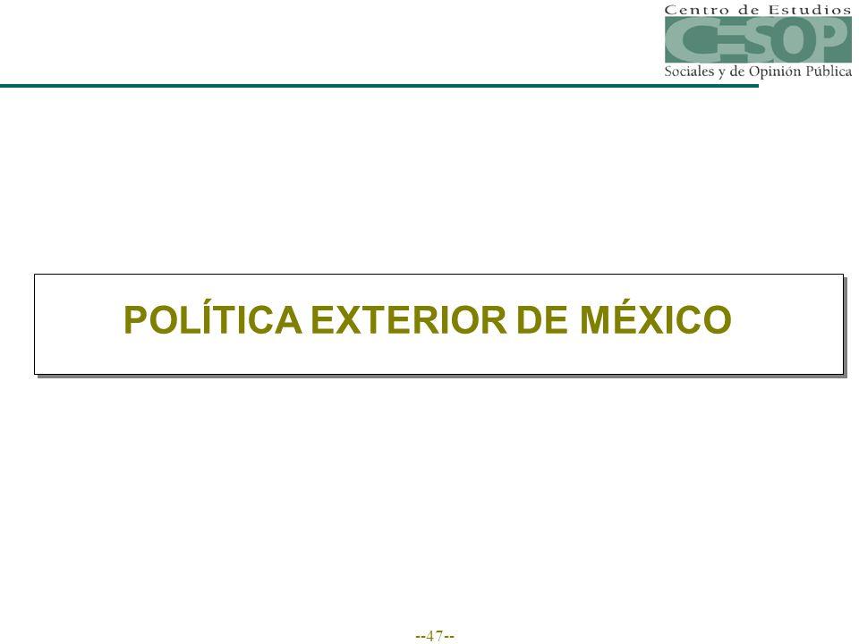 --47-- POLÍTICA EXTERIOR DE MÉXICO
