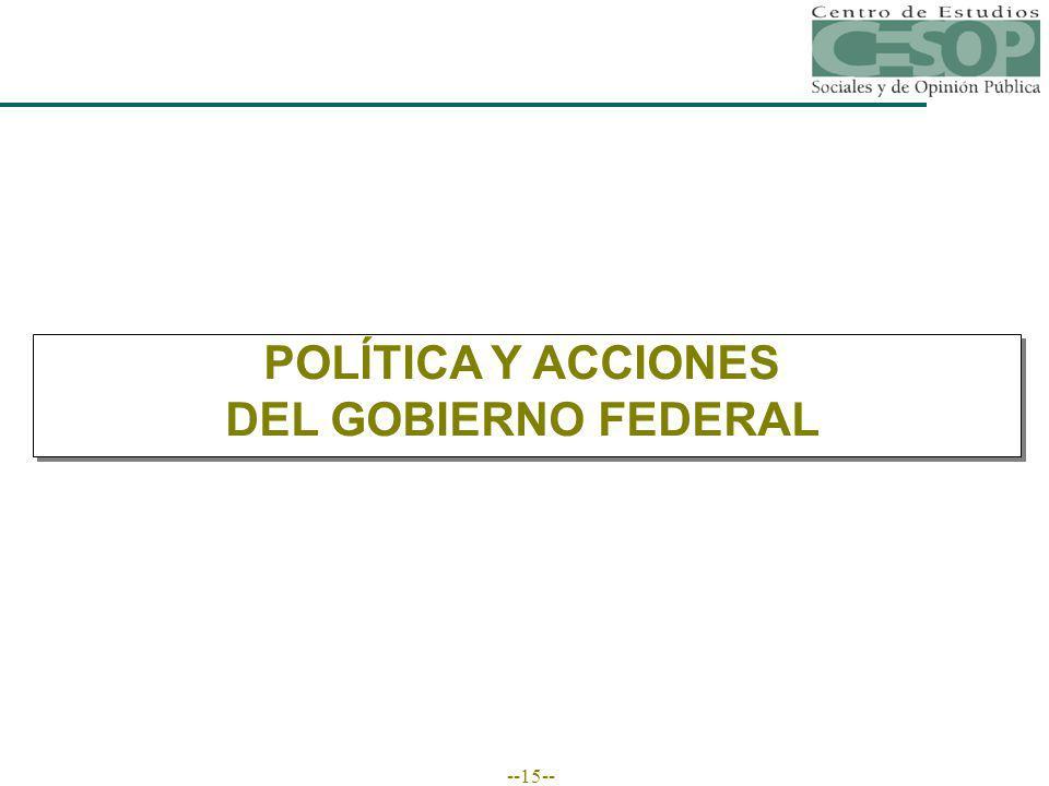 --15-- POLÍTICA Y ACCIONES DEL GOBIERNO FEDERAL
