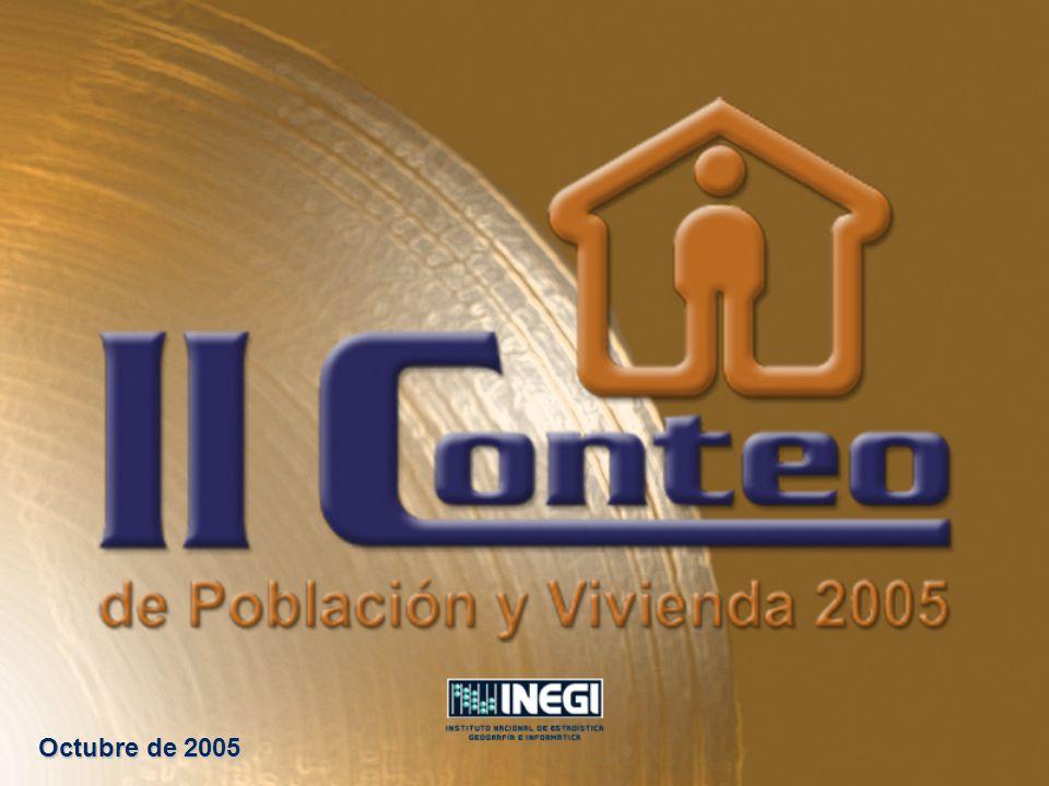 El Instituto Nacional de Estadística, Geografía e Informática (INEGI), presenta un panorama general del II Conteo de Población y Vivienda 2005 (II Conteo), cuyo operativo censal tendrá lugar del 4 al 29 de octubre de este año 2005.