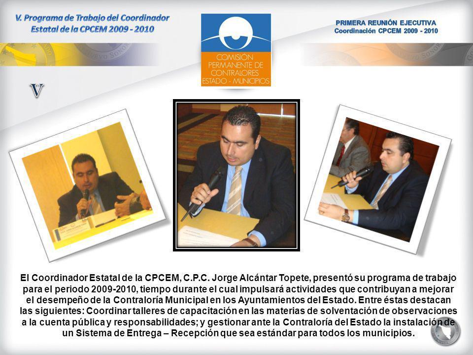 El Coordinador Estatal de la CPCEM, C.P.C.