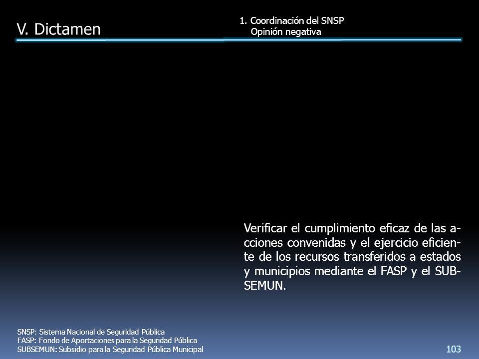 Verificar el cumplimiento eficaz de las a- cciones convenidas y el ejercicio eficien- te de los recursos transferidos a estados y municipios mediante el FASP y el SUB- SEMUN.