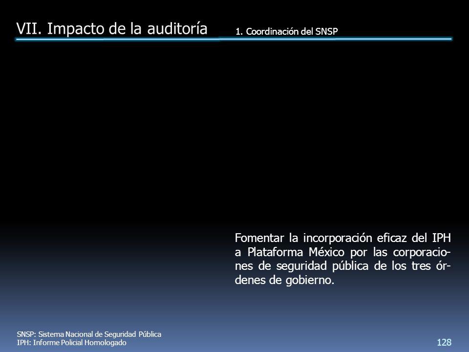 Fomentar la incorporación eficaz del IPH a Plataforma México por las corporacio- nes de seguridad pública de los tres ór- denes de gobierno.
