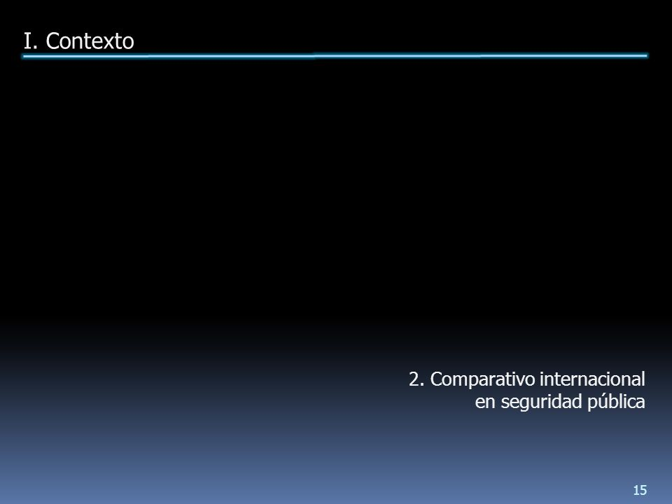 2. Comparativo internacional en seguridad pública I. Contexto 15