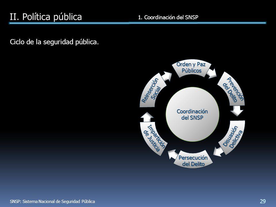 Ciclo de la seguridad pública. II. Política pública 1.