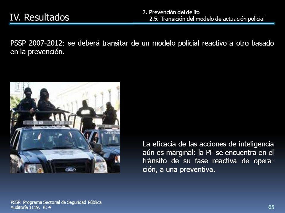 PSSP 2007-2012: se deberá transitar de un modelo policial reactivo a otro basado en la prevención.